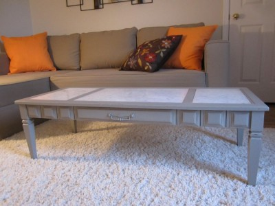 F87 - Marble Top Coffee Table - 01