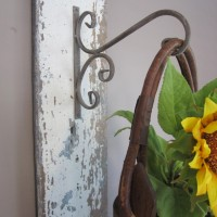 Reclaimed Barn Wood Wall Hanging with Sunflowers
