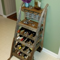 25% Off – Wine Rack Created from Antique Furniture Dolly